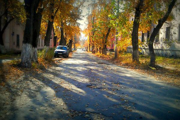 Барнаульская старинная осенняя улочка.