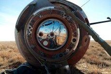 Капсула с членами экипажа МКС-57/58 космонавтом Алексеем Овчининым и астронавтом Ником Хейгом