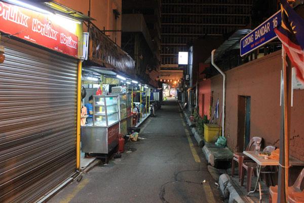 Узкие улочки Чайнатауна в Куала-Лумпуре. Малайзия.