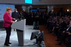 Канцлер Германии Ангела Меркель выступает на Мюнхенской конференции