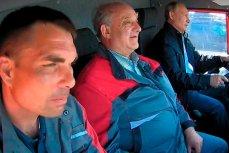 Путин едет за рулем КамАЗа по Крымскому мосту не пристёгнутый ремнём безопасности