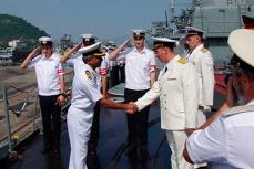 Встреча военных моряков России и Индии.