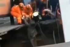 Спасатели вытаскивают пострадавших