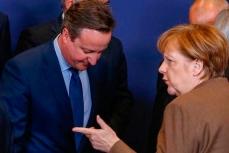 Пьемьер-министр Великобритании Дэвид Кэмерон с Ангелой Меркель.