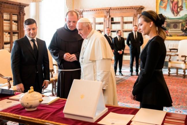 Владимир Зеленский и Папа Римский