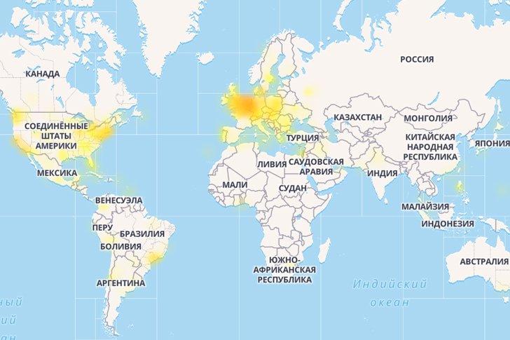 Карта сбоев в работе