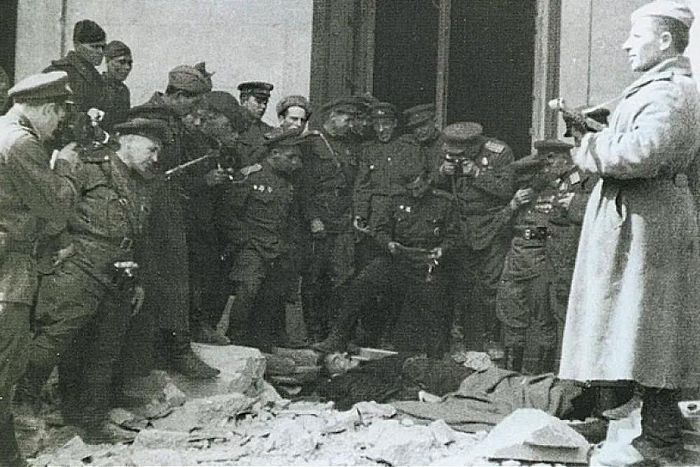 Предположительные останки Гитрела, которые обнаружили советские солдаты