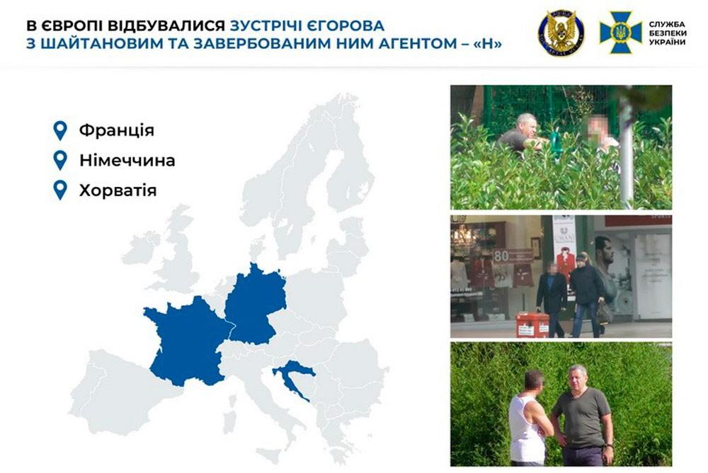 Встречи Егорова с Шайтановым в Европе