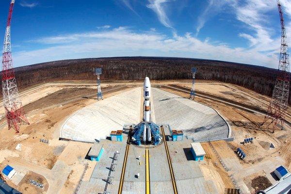 Первая ракета «Союз-2.1а» на стартовой площадке космодрома