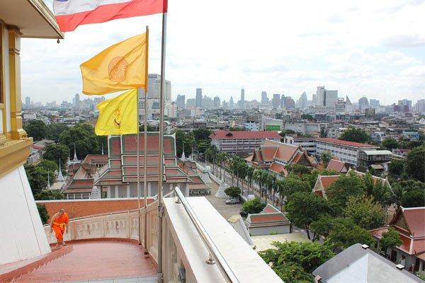 Храм на Золотой горе (Wat Saket). Бангкок, Таиланд.