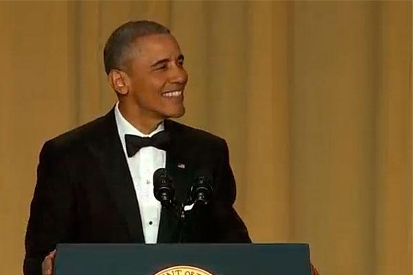 Барак Обама во время выступления.