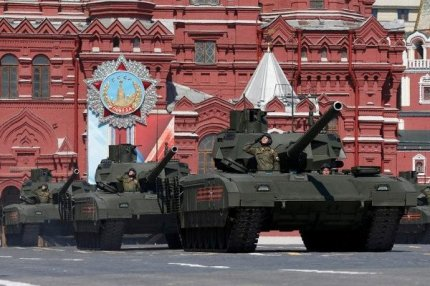Российский танк Т-14 на Параде Победы, Москва, 9 мая 2016.