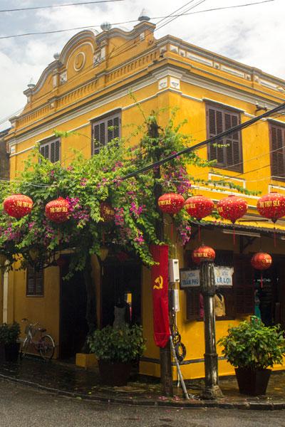 Красивый дом в  городе Хойан. Вьетнам.