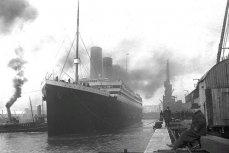 """""""Титаник"""" на причале в Саутгемптоне, 10 апреля 1912 года"""