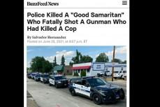 В США полицейские застрелили мужчину, а после объявили его героем