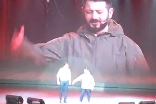 Выступление Михаила Галустяна и Александра Реввы
