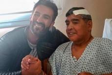 Диего Марадоны с личным врачом Леопольдо Луке