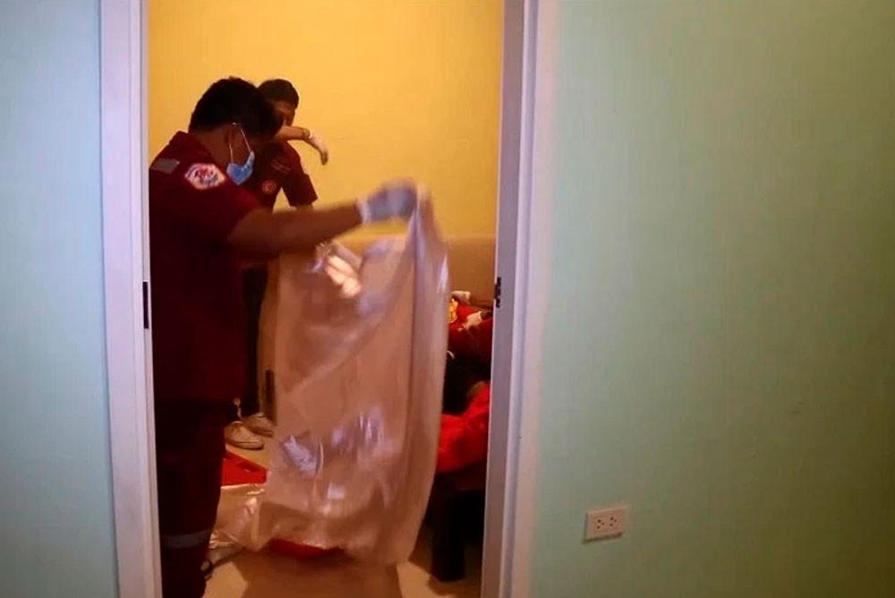 Квартира, где нашли тело мужчины убитого телефоном
