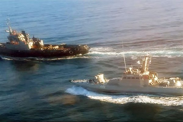Конфликт военных кораблей России и Украины в Керченском проливе