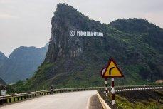 Дорога, ведущая в деревню Фоннья. Вьетнам