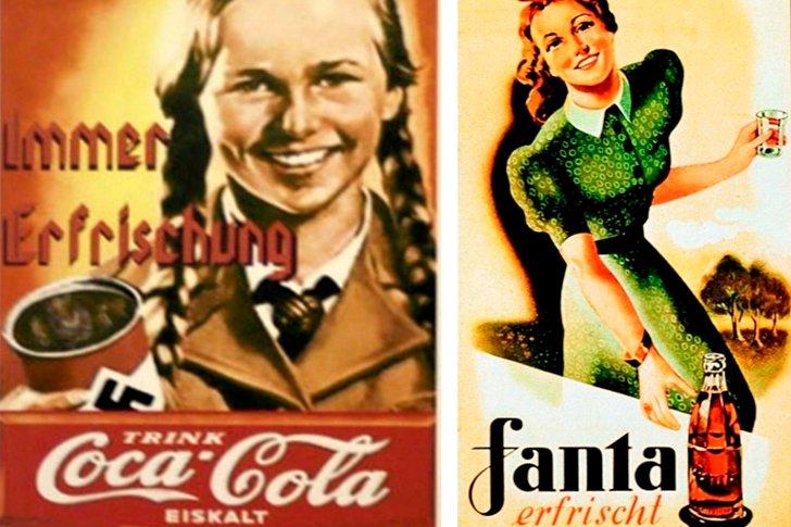 Рекламные плакаты Coca-Cola  и Fanta в фашистской Германии