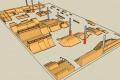 Схема нового скейт-парка в Геленджике.